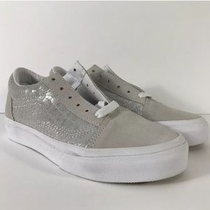 Vans Old Skool Metallic Snake Silver Sneakers